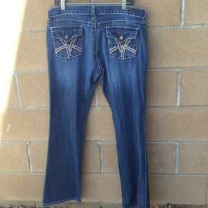 Kut from the Kloth Jeans - KUT Kate lowrise bootcut jeans sz 14 37x32 vguc